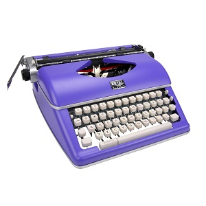 Royal Classic Manual Typewriter - Purple