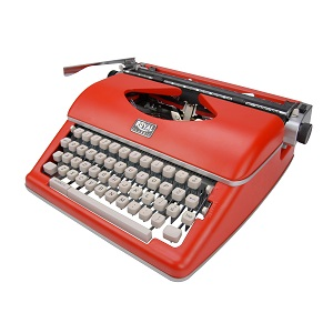 Royal Classic Manual Typewriter - Red